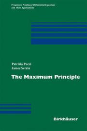 The Maximum Principle by Patrizia Pucci