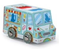 Crocodile Creek: Vehicle Shaped Puzzle - Mini Ice cream Truck