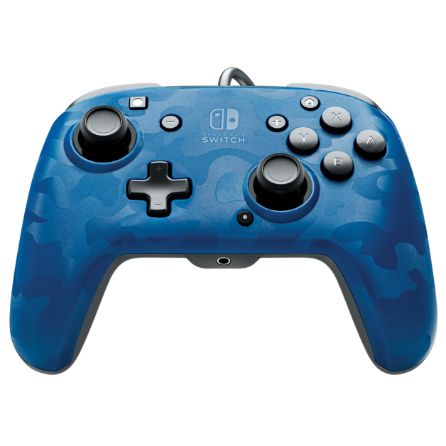 PDP Faceoff Controller Deluxe for Switch - Blue Camo for Switch