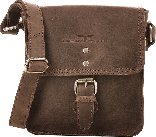 Urban Forest: Little Joe Leather Body Bag - Tobacco