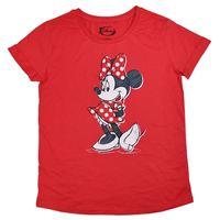 Disney Red Minnie Mouse T-Shirt (Small)