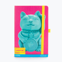 Mustard: Lucky Cat A5 Notebook - Magenta