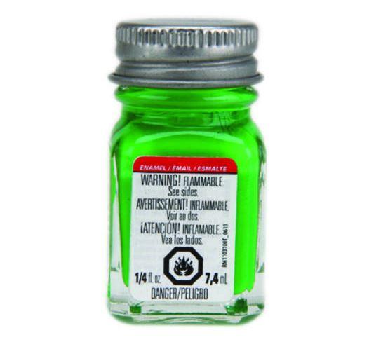 Testors: Fluorescent Enamel Paint - Green