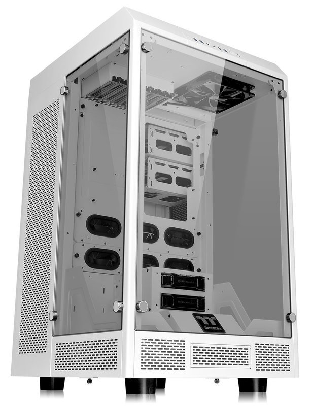 Thermaltake: The Tower 900 E-ATX Vertical Super Tower Chassis - Snow Edition (White)