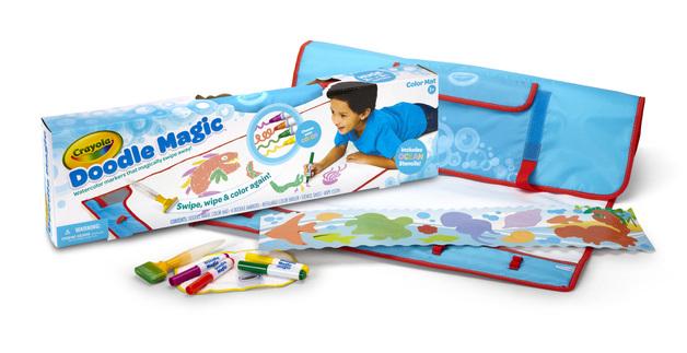 Crayola Doodle Magic Colour Mat Blue Toy At Mighty Ape Nz