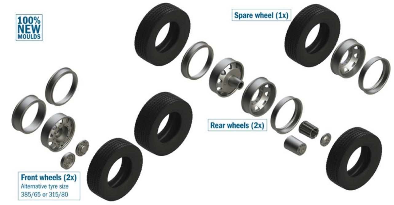 Italeri: 1/24 European Tractor Tires & Rims - Model Kit image