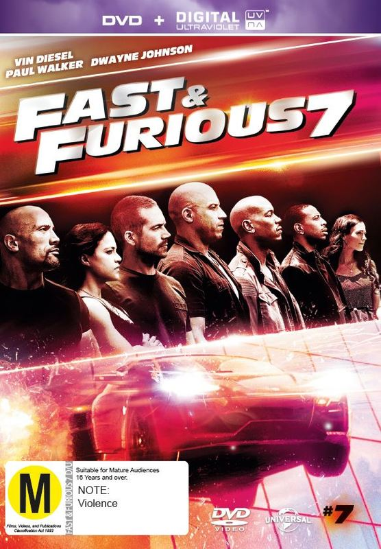 Fast and Furious 7 on DVD