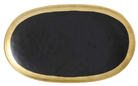 Maxwell & Williams Swank Platter Oblong 30x18cm (Black/Gold)