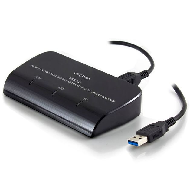 Alogic Vrova USB 3.0 to HDMI and DVI/VGA Dual Output External Multi Display Adapter