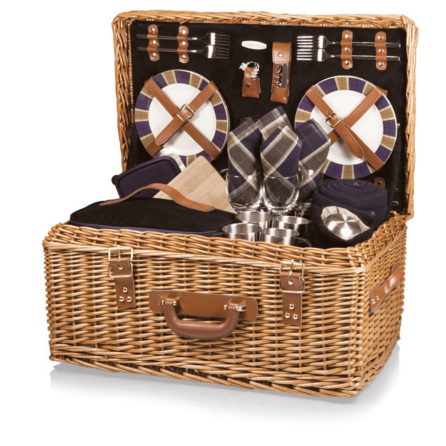 Picnic Time: Windsor Basket - Navy Blue