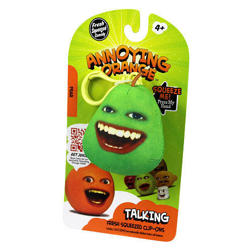 Annoying Orange Talking Plush Keyring / Clip-on - Pear