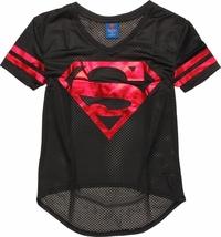 DC Comics - Superman Mesh V-Neck T-Shirt (Medium)