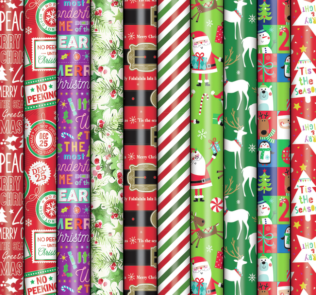 Patelena House: Christmas Roll Wrap - Gloss 10M (Assorted Designs)