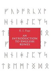 An Introduction to English Runes by R.I. Page
