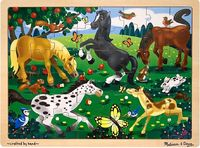 Melissa & Doug: Frolicking Horses Jigsaw Puzzle - 48 Pieces