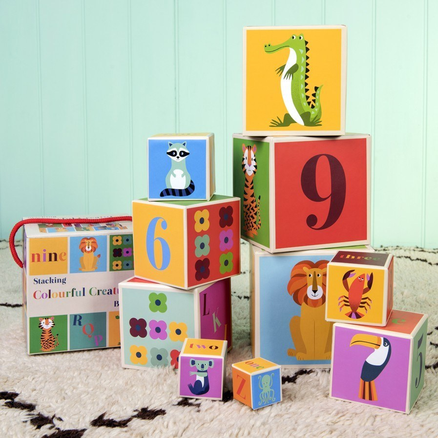 Colourful Creatures Stacking Blocks (Set of 10) image
