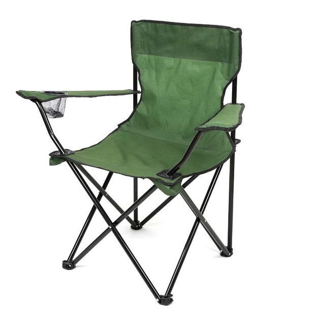 Folding Camping Chair - With Arms and Drink Holder