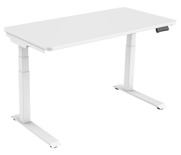 Gorilla Office: 3-Stage Motorised Height Adjustable Desk - White/White (1400 x 700mm)