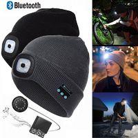 Bluetooth 5.0 LED Stereo Hat - Battleship Grey