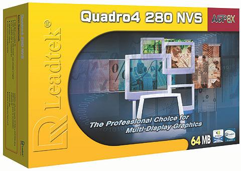 Leadtek Graphics Card Quadro4 NVIDIA 280 NVS 64MB AGP