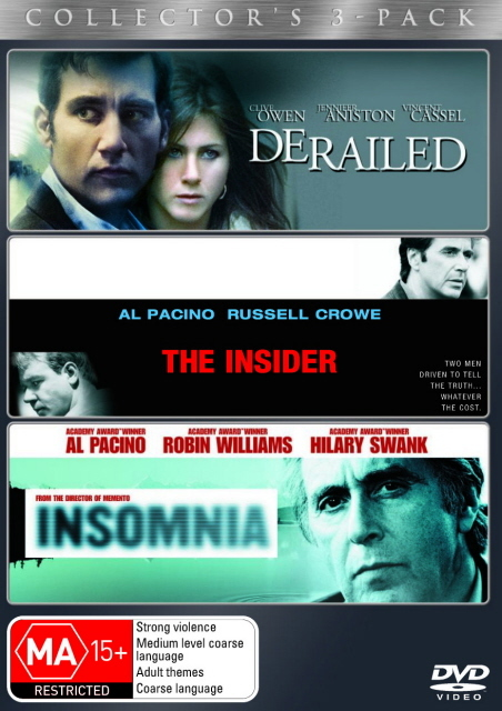 Derailed (2005) / The Insider / Insomnia - Collector's 3-Pack (3 Disc Set) on DVD