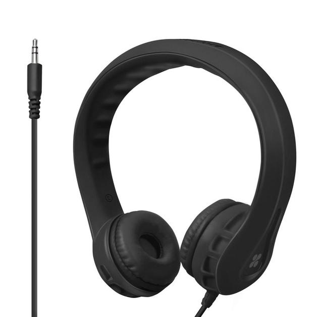 4cac2a9b117 Promate Flexure Kid-Friendly Over Ear Wired Headphones - Black | at Mighty  Ape NZ