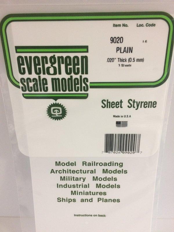 Evergreen Styrene Sheet White 30X61cm X.50 mm (1)