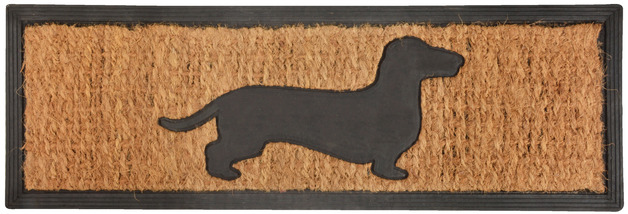 Rubber Doormat - Dachshund (75x25x0.9cm)