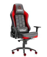 Gorilla Gaming Alpha Prime Chair - Black & Red for