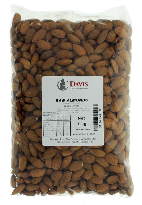 Davis Raw Almonds 1kg