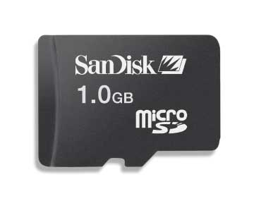 SanDisk 1024MB MicroSD Memory Card image