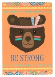 Animal Adventure: Be Strong Bear - A5 Notebook
