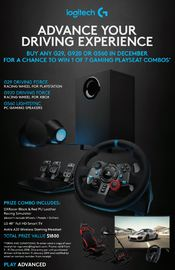 Logitech G920 Feedback Racing Wheel (Xbox One & PC) for Xbox One image