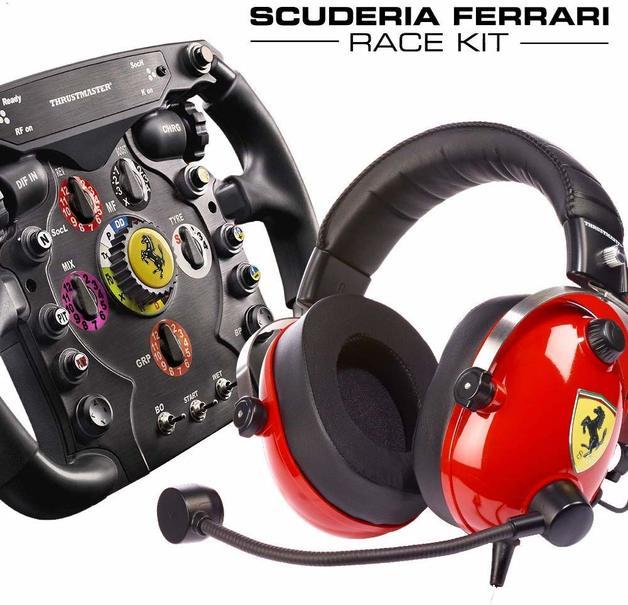 Thrustmaster Scuderia Ferrari F1 Wheel and T Racing Ferrari Headset Bundle for PS4