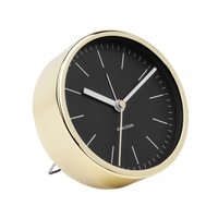 Karlsson Alarm Clock - Minimal (Gold/Black)