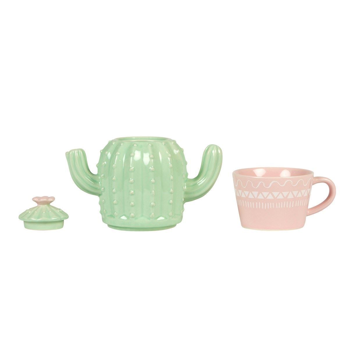 Pastel Cactus Teapot For One image