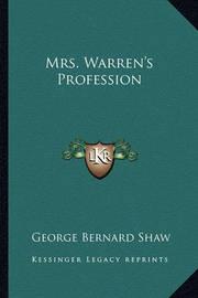 Mrs. Warren's Profession by George Bernard Shaw