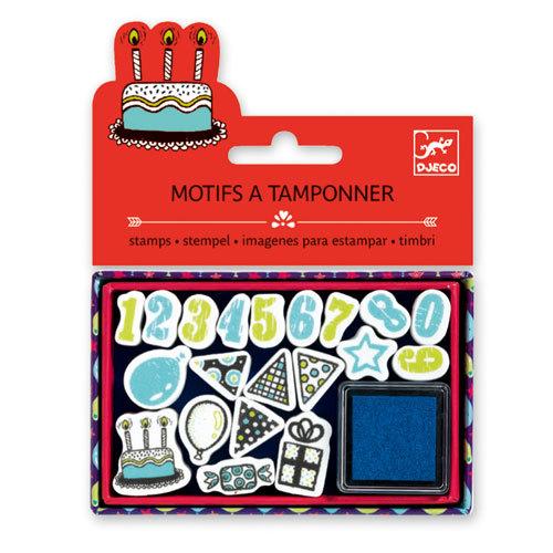 Djeco: Small Stamp Set - Birthday