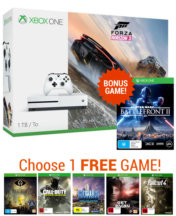 Xbox One S 1TB Forza Horizon 3 Console Bundle for Xbox One image