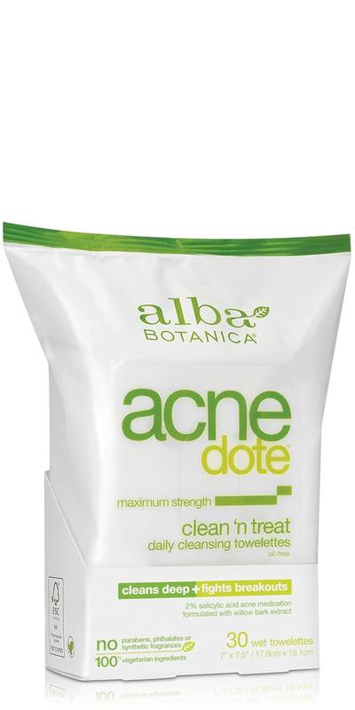 Alba Botanica - AcneDote - Clean 'n Treat Towelettes (30 Towelettes)