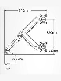 Gorilla Arms Single Gas Spring Powered Monitor Mount