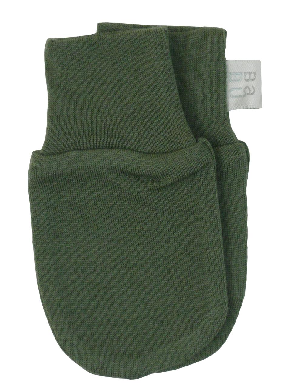 Babu: Merino Scratch Mittens - Khaki (0-3m) image