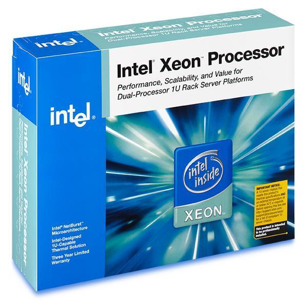 Intel Xeon CPU 3.4Ghz 1MB 800FSB 604-Pin Retail Box With Fan