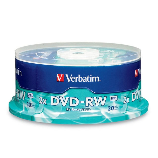 Verbatim DVD-RW 4.7GB Spindle 2x (30 Pack)