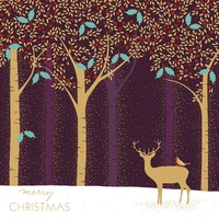 The Art File: Luxury Boxed Christmas Cards - Deer in a Forest (8 Pack)