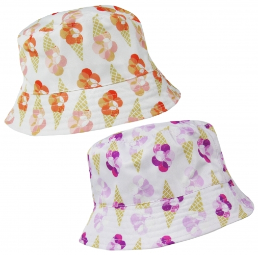 Ice Cream: Girls Sun Hat - Cornet/3-6