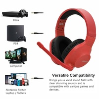 SADES Spirits Universal Gaming Headset (Red) for Switch, PC, PS4, Xbox One