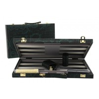 "Backgammon 18"" Case - Green World Map"