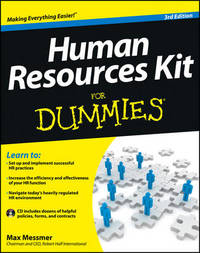 Human Resources Kit For Dummies by Max Messmer