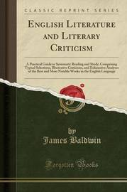 English Literature and Literary Criticism by James Baldwin